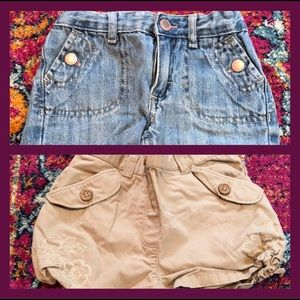 Bundle of two pairs of shorts 18 mos